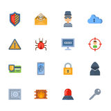 Progettazione di massima della rete di tecnologia di protezione dei dati di vettore di attacco del pirata informatico del virus d Fotografie Stock Libere da Diritti