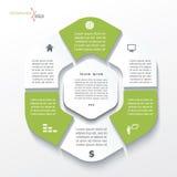 Progettazione di massima di affari con sei segmenti Immagine Stock