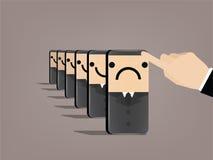 Progettazione di massima di effetto di domino Fotografie Stock Libere da Diritti