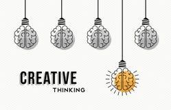 Progettazione di massima di pensiero creativo con i cervelli umani illustrazione vettoriale