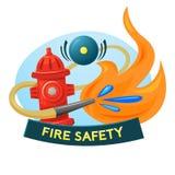 Progettazione di massima di protezione antincendio, illustrazione di vettore Immagini Stock