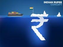 Progettazione di massima di valore dei soldi della rupia indiana Fotografia Stock