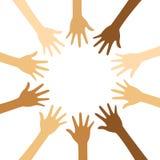 Progettazione di massima di diversità, mani su con testo illustrazione vettoriale