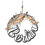 Progettazione di massima di logo di viaggio di Berlino Fotografie Stock