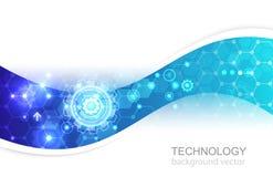 Progettazione di massima moderna dell'innovazione di tecnologia del fondo di vettore Immagini Stock