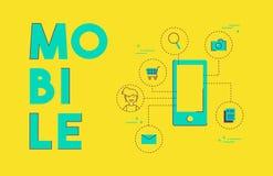 Progettazione di massima sociale della rete di media del telefono cellulare Fotografia Stock