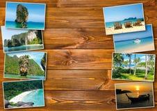 Progettazione di massima tailandese di turismo di viaggio - collage delle immagini della Tailandia Fotografia Stock Libera da Diritti