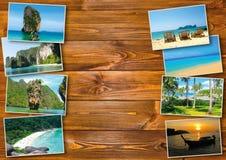 Progettazione di massima tailandese di turismo di viaggio - collage delle immagini della Tailandia Fotografie Stock Libere da Diritti