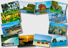 Progettazione di massima tailandese di turismo di viaggio - collage delle immagini della Tailandia Fotografia Stock