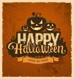 Progettazione di messaggio felice della zucca di Halloween illustrazione vettoriale