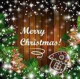 Progettazione di Natale con i biscotti del pan di zenzero Immagini Stock Libere da Diritti