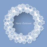 Progettazione di Natale con i fiocchi di neve decorativi Fotografie Stock
