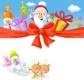 Progettazione di Natale con Santa Fotografia Stock Libera da Diritti