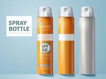 Progettazione di pacchetto della bottiglia dello spruzzo Immagine Stock Libera da Diritti