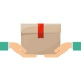 Progettazione di pacchetto isolata di consegna illustrazione vettoriale