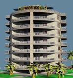 progettazione di palazzina di appartamenti 3D immagine stock libera da diritti