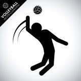 Progettazione di pallavolo Fotografie Stock