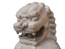 Progettazione di pietra cinese del leone Fotografia Stock