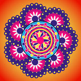 Progettazione di Rangoli Ornamento indiano Immagini Stock Libere da Diritti
