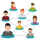 Progettazione di rete Immagine Stock