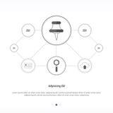 Progettazione di rete di concetto del perno della mappa Immagine Stock Libera da Diritti
