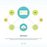 Progettazione di rete di concetto della carta Fotografie Stock