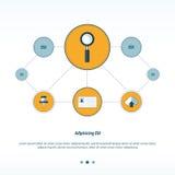 Progettazione di rete di concetto della lente d'ingrandimento Fotografia Stock Libera da Diritti