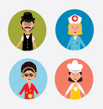 Progettazione di rete sociale Fotografia Stock