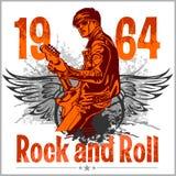 Progettazione di rock-and-roll - manifesto di vettore Immagini Stock