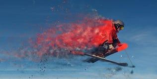 Progettazione di salto dello sciatore Fotografia Stock Libera da Diritti