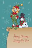 Progettazione di Santa Elf di Natale Immagini Stock Libere da Diritti