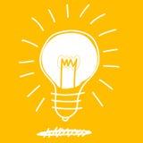 Progettazione di scarabocchio del disegno della lampadina Fotografia Stock Libera da Diritti