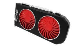 Progettazione di scheda video per estrazione mineraria cripto di valuta illustrazione 3D Fotografie Stock