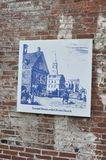 Progettazione di schizzo di Benjamin Franklin da Filadelfia in Pensilvania U.S.A. Fotografia Stock Libera da Diritti