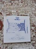 Progettazione di schizzo di Benjamin Franklin da Filadelfia in Pensilvania U.S.A. Fotografie Stock Libere da Diritti