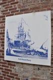 Progettazione di schizzo di Benjamin Franklin da Filadelfia in Pensilvania U.S.A. Fotografia Stock