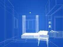Progettazione di schizzo del salone interno Immagine Stock