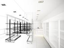Progettazione di schizzo del supermercato Immagine Stock Libera da Diritti