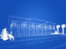 Progettazione di schizzo della casa Fotografie Stock