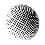 Progettazione di semitono dell'icona di simbolo di vettore di logo del globo Immagini Stock
