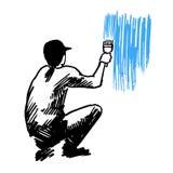 Progettazione di servizi della pittura Fotografia Stock Libera da Diritti