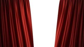 progettazione di seta rossa di lusso della decorazione delle tende del velluto dell'illustrazione 3D, idee Tenda rossa della fase Fotografia Stock Libera da Diritti