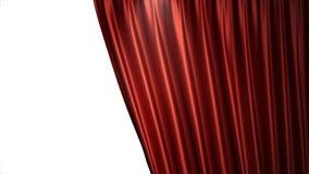 progettazione di seta rossa di lusso della decorazione delle tende del velluto dell'illustrazione 3D, idee Tenda rossa della fase Immagine Stock