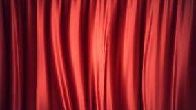 progettazione di seta rossa di lusso della decorazione delle tende del velluto dell'illustrazione 3D, idee Tenda rossa della fase Fotografia Stock