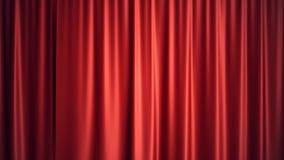 progettazione di seta rossa di lusso della decorazione delle tende del velluto dell'illustrazione 3D, idee Tenda rossa della fase Immagini Stock Libere da Diritti