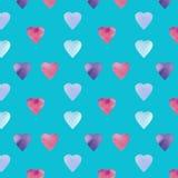 Progettazione di simbolo di forma del cuore Modello dei cuori di Colorfui Fondo senza cuciture di giorno di biglietti di S. Valen royalty illustrazione gratis