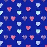 Progettazione di simbolo di forma del cuore Modello dei cuori di Colorfui Fondo senza cuciture di giorno di biglietti di S. Valen illustrazione vettoriale