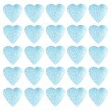 Progettazione di simbolo di forma del cuore Modello variopinto dei cuori per carta, tessuto, carta Fondo senza cuciture di giorno illustrazione di stock