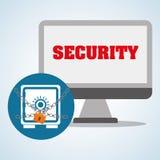 Progettazione di sistema di sicurezza, avvertimento e concetto di tecnologia Immagini Stock