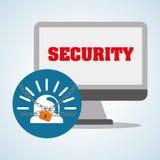 Progettazione di sistema di sicurezza, avvertimento e concetto di tecnologia Fotografie Stock Libere da Diritti